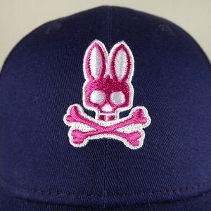 Psycho Bunny Cotton Twill Baseball Cap Hat NWT